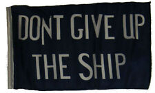 """12x18 12""""x18"""" Historical Commodore Perry Don't Give Up Ship Sleeve Flag Garden"""