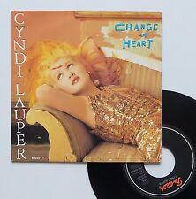 """Vinyle 45T Cindy Lauper  """"Change of heart"""""""