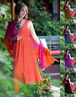 LotusTraders DRESS MAXI LAYERED STRETCH DESIGN MADE TO ORDER PLUS SIZE U1040