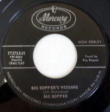 BIG BOPPER 45 Big Bopper's Wedding/Little Red Riding... MERCURY rock VG++ ct313