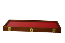 Cherry Wood Display Case 9 X 25 X 2 For Arrowheads Knives Collectibles Amp More