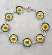 Sunflower Bracelet- Yellow Floral Jewellery