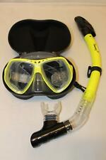 TDS Dive/Snorkel Mask - Yellow with Dry Yellow Snorkel- Model 91-6 Free Case!
