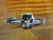 Vintage SIAM Dancer with Elephant Sterling Silver 925 TIE CLIP