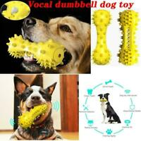 Pet Dog Squeaky Chew Toys Aggressive Chewer Indestructible Tough Rubber X8P5