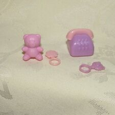 BARBIE HAPPY FAMILY PLASTIC FAUX RATTLE BEAR TELEPHONE TOYS FOR DOLL DIORAMA