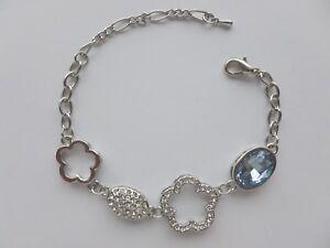 Bracelet Mode Femme Cristal Bleu Clair  - Bijoux des Lys