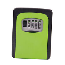 Wall Mount Key Box&4 Digit Combination Home Security Lock Safe Storage Green