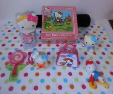 HELLO KITTY LOT, 6 ITEMS, PUZZLE, FIGURES & MORE, 2000's, MEGA-COOL KITTY STUFF!