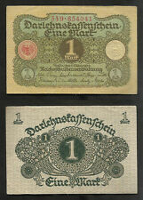 "Rare Vintage ""Germany"" Bank Note 1920 ""1 Mark"" P# 58"