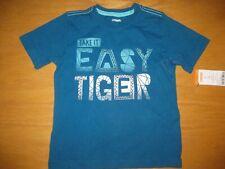 NWT Gymboree Blue Safari Boy size 2T Blue Easy Tiger Top Shirt