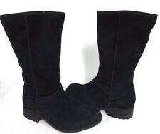 UGG Women's Linford Suede Leather Wide Calf Boots Black Size 12