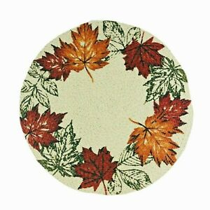 Fall Leaves Braided Round Placemat Centerpiece Table Linen Holiday at Home New