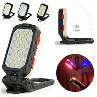 LED Work Light COB Inspection Lamp Magnetic Torch USB Rechargeable Folding Torch
