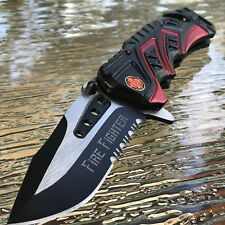 "7.5"" MTECH USA FIRE FIGHTER RESCUE SPRING ASSISTED TACTICAL FOLDING POCKET KNIFE"