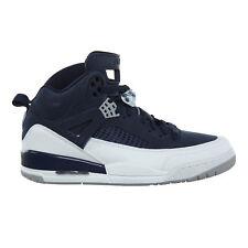 Jordan Spizike Mens 315371-406 Midnight Navy Silver Basketball Shoes Size 11