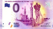 PORTUGAL Fatima, 100 ans apparitions, N° de la 3ème, 2017, Billet 0 € Souvenir
