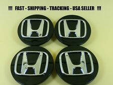 4 Black Chrome Center Caps Wheel Set for Honda CRV ELEMENT ODYSSEY ACCORD PILOT