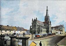 BRETAGNE - LIEU de PÈLERINAGE: SAINT-ANNE d'AURAY (1896)- Planche couleur du 19e
