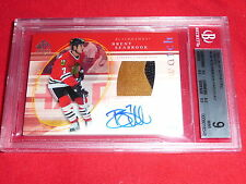 05-06 SP Authentic Brent Seabrook RC Auto Future Watch Patch /100 BGS 9 AUTO 10*