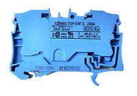 1 Stück WAGO 2006-1204 | 2-Leiter-Durchgangsklemme | TOPJOB S | 6 mm² | blau OVP