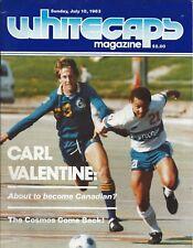 1983 Vancouver Whitecaps vs. New York Cosmos NASL Soccer Program - #FWIL