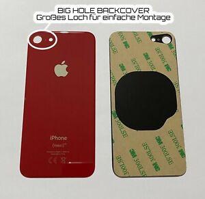 "Apple iPhone 8 4.7"" OEM Akkudeckel Backcover BIG HOLE Großes Kameraloch ROT RED"