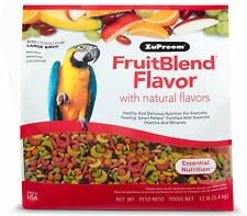 Bird Food ZuPreem FruitBlend Natural Fruit Flavors large parrots 3.5Lb Made USA