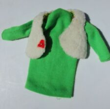 Vintage Barbie Doll Important Investment Green Dress Yellow Vest #1482 Mod