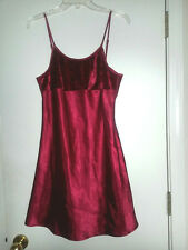 DELICATE TREASURES INTIMATES Baby Doll Sexy Red SLIP Dress LINGERIE Womens Sz M
