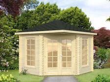 28mm Gartenhaus 300x300 cm Gerätehaus Holzhaus Holz Blockhaus Pavillon Hütte Neu