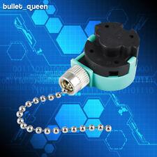 Zing Ear ZE-268S6 Switch 3 Speed Ceiling Fan Light Lamp Pull Chain Nickel