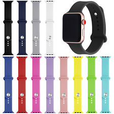 For Apple Watch iWatch Series 5/4/3/2/1 Soft Silicone Band Strap 38/40/42/44mm