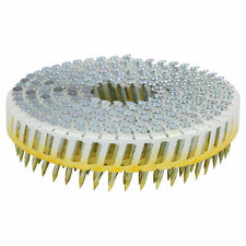 Airco Screw Shank Coil NAILS Electro Galvanised Hardened Steel 32x2.5mm 6000pcs