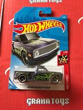 *Damaged Card* Custom '69 Chevy Pickup #11 Flames 2018 Hot Wheels Case A
