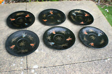 6 Pcs Antique Chinese Wooden Lacquer Painted Gold Fish Plate - SHIN SHAO AN #3