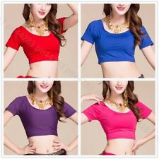 Belly Dance Yoga Sports Top Soft Stretchy Cotton Midriff Dancing Wear Bra Top