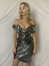 Vivienne Westwood Corset Dress Evening Silver Cocotte Bustier Gown XS NEW