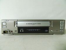 Sanyo VWM-710 4 Head HiFi VCR Player VHS Video Cassette Recorder Tested Working