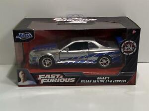 Fast and Furious Brians Nissan Skyline GT R R34 Scale 1:32 Jada