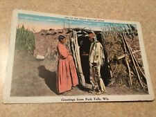 Park Falls WI Greetings From Indian Medicine Lodge postcard Wisconsin