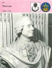 FICHE CARD Marivaux 1688-1763 Buste de Fany Dubas Davesnes Comédie Française 90s