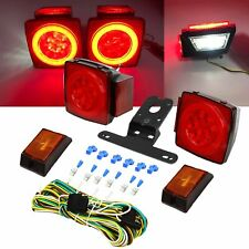 Upgrade Rear Led Submersible Trailer Truck Boat Marker Tail Light Kit Waterproof
