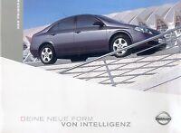 Nissan Primera Prospekt 3/03 brochure 2003 Autoprospekt Broschüre broschyr Auto