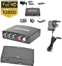 HDTV UK Video+ R/L Audio Converter Adapter YPBPR HDMI RGB Component 1080P UK PC