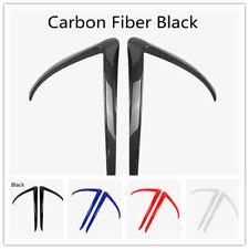 For Tesla Model 3 Front Blade Trim ABS Carbon Fibre Front Fog Light Frame 2pcs