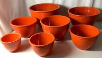FIESTA VINTAGE  Nesting Mixing Bowls original red Complete Set Of 7, #1 Thru #7