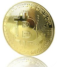 BITCOIN Münze ,Sammelmünze, Medaille, Echt vergoldet, Mining, schneller Versand