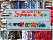 Keyring AIR CANADA JAZZ Airlines Remove Before Flight keychain for Pilot Crew