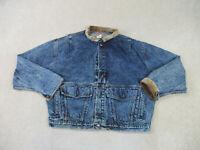 VINTAGE Levis Jacket Adult Large Blue Denim Jean Coat Rancher Trucker Men 90s*